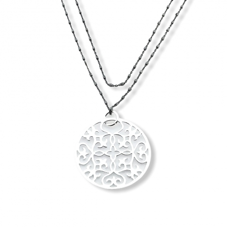 Colgante Mandala  plata de ley